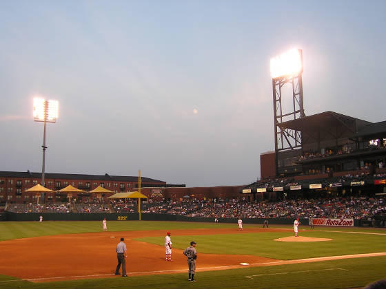 Looking into Right Field - AutoZone Park, Memphis