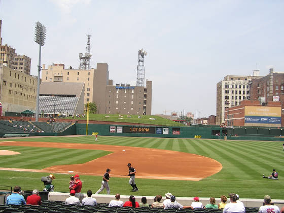 Looking to Left Field, Autozone Park, Memphis, Tn